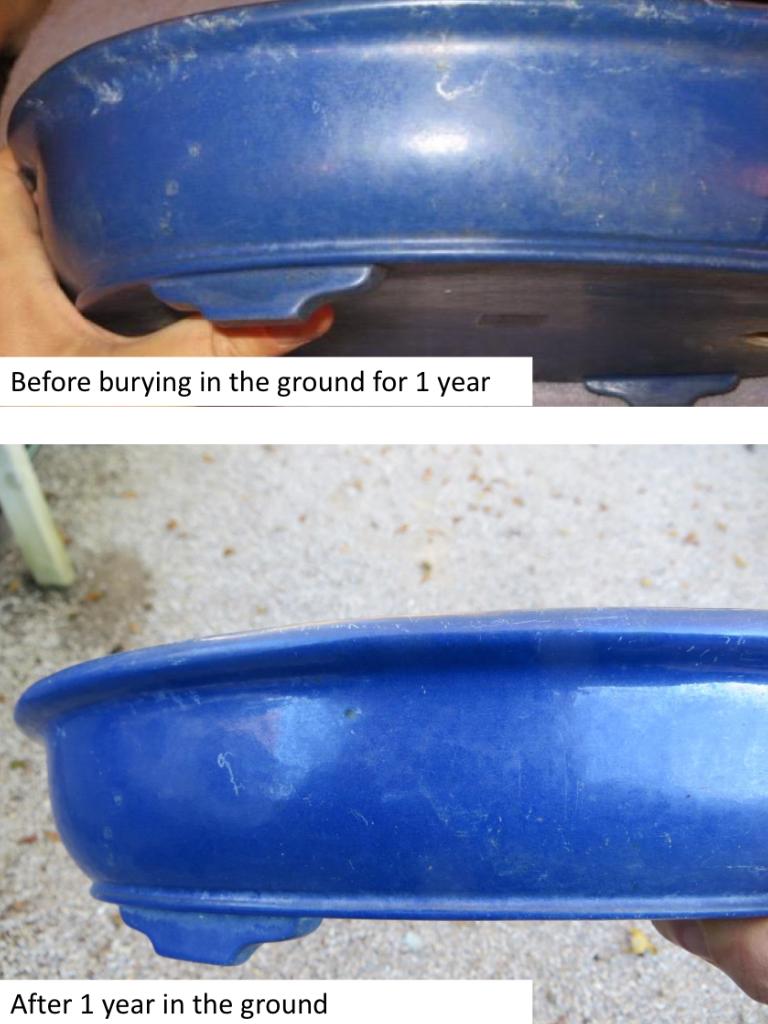 Removing calcium deposits from pots   Nebari Bonsai
